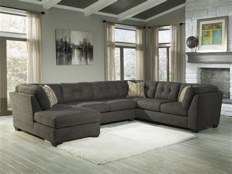 laf sofa rooms to go delta city steel 3 pc laf chaise sectional 19700 16