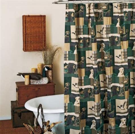 duck hunting bathroom decor decorative labrador retriever pillows rugs throw