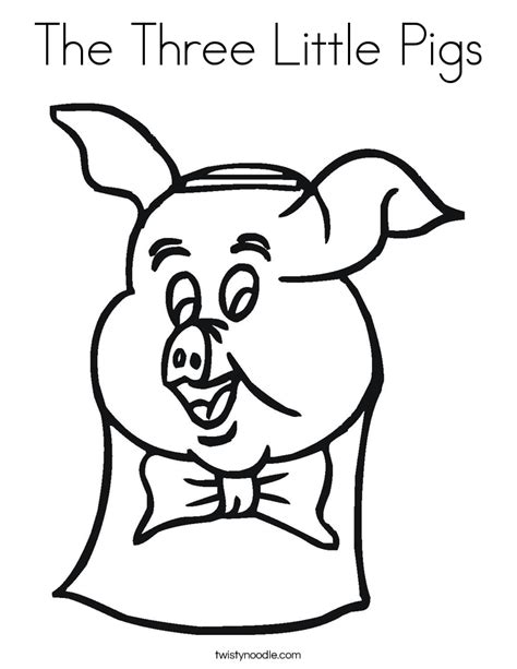 little pig coloring page the three little pigs coloring page twisty noodle