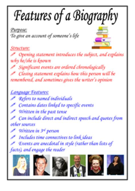biography conclusion ks2 features of a biography poster by moshing uk teaching