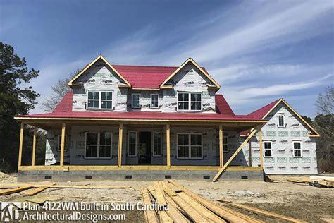 designs farmhouse plan wm client built in north carolian farmhouse plan 4122wm comes to life in south carolina again