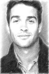 graphite pencil drawing from a photo portrait with akvis