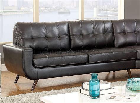 2 sectional sofa black kate ii sectional sofa cm6506 in black leatherette