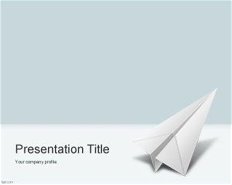 ppt templates free download airplane paper airplane powerpoint template