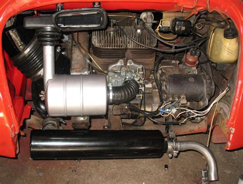 subaru 360 engine assembling the ductwork and exhaust on my subaru 360