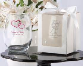 Wedding Favor Wine Glass personalized stemless wine glass wedding favors my