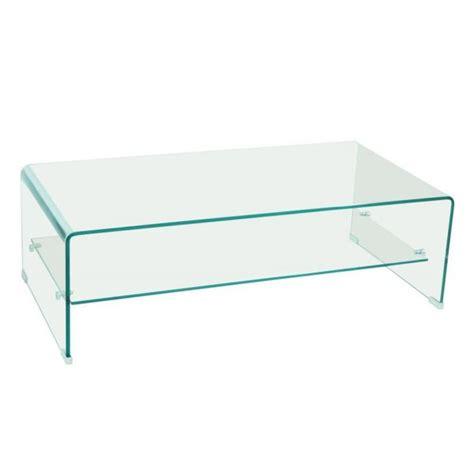 table basse design side en verre tremp 233 12mm transparent