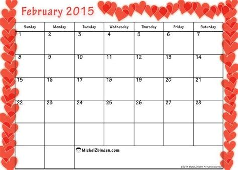 calendar template for february 2015 february 2015 calendar printable printable february 2015