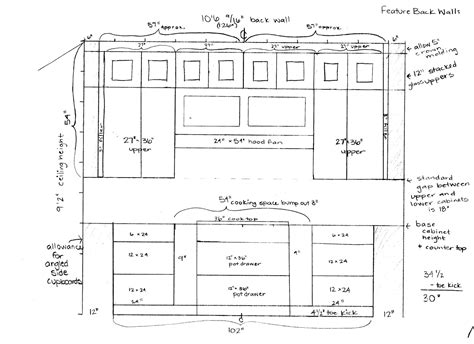 kitchen cabinet size chart the common standard kitchen cabinet sizes that must be