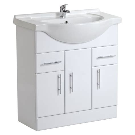 bathroom cloakroom vanity storage furniture units gloss white white bathroom furniture vanity unit ceramic basin sink 750mm compact cloakroom cabinet storage