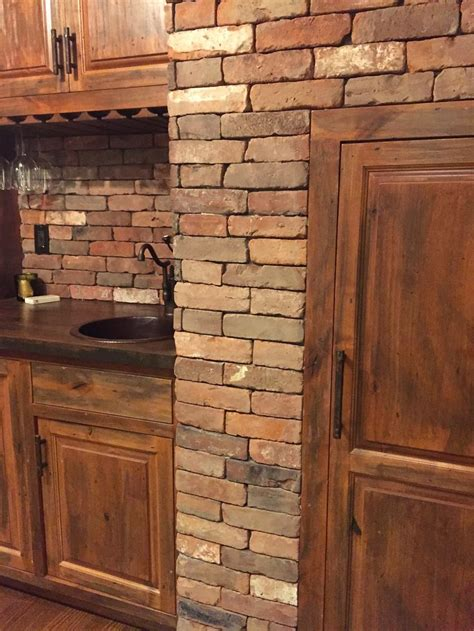 charming kitchen best 25 faux brick wall panels ideas on brick veneer stone farm living within reclaimed remodel 9