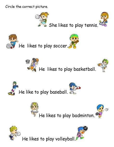 What Calendar Do They Use In Korea Sports Worksheet For Kindergartens Free Kindergarden
