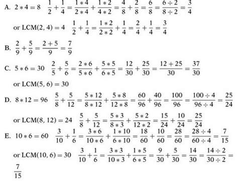 Operations With Fractions Chegg Test Prep Gre