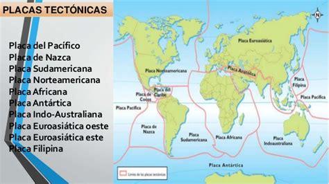 foto de las placas tectonicas placas tectonicas