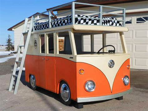 vw bus bed volkswagen bus style bunk bed a dream come true