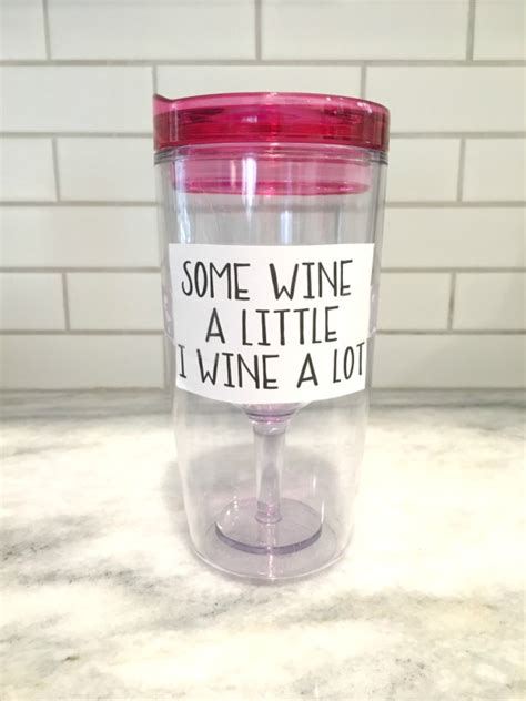 printable vinyl on tumblers how to make personalized wine tumblers with free wine