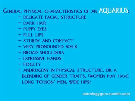 pisces physical appearance physical characteristics of a