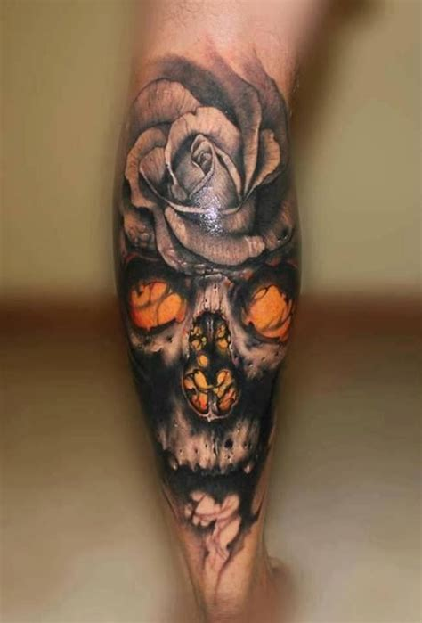 different color rose tattoos skull into would like different colored