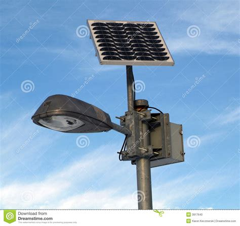Solar Powered L Post Stock Photo Image 3917640 Solar Powered L Post Light