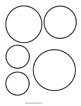 Circle Templates Circle Cut Out Template