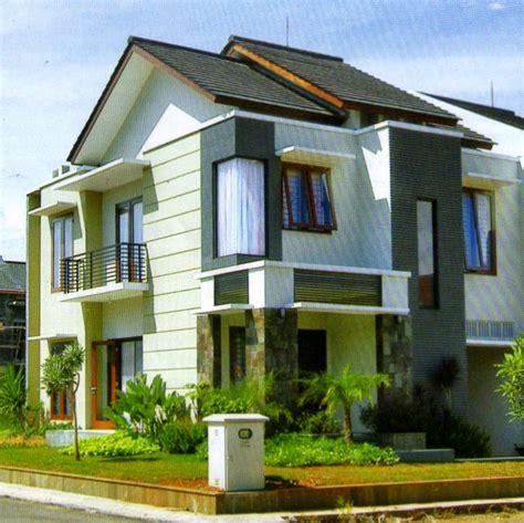 ide  contoh kombinasi cat rumah warna biru