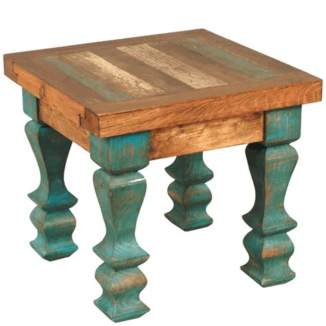 Turquoise Table L Wood Turquoise Table