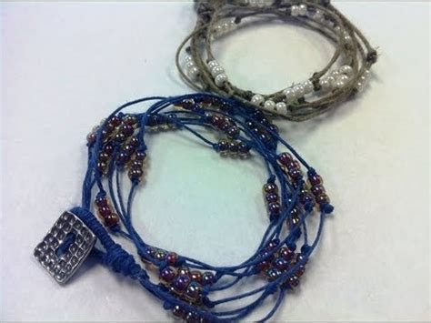 how to make a diy knot beaded wrap bracelet with