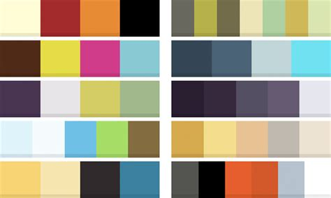 trendy color schemes business brand colour trends for 2011 stripey