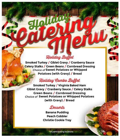 holiday catering menu bar b cutie