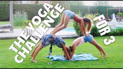 imagenes de yoga de tres personas the yoga challenge for 3 esto es caos