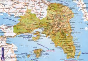 where is athens on map map of athens greece in