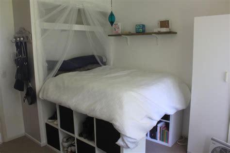 raised bed  built  wardrobe ikea hackers
