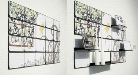 fold  mural cleverly combines wall art  functional