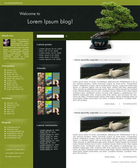 wordpress blog template by siostranocy on deviantart