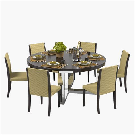 Dining Table Models 3d Misuraemme Dining Table Set Model