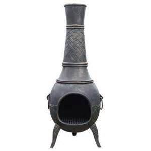 Cast Iron Wood Chiminea La Hacienda Cast Iron Wood Burning Chiminea Walmart