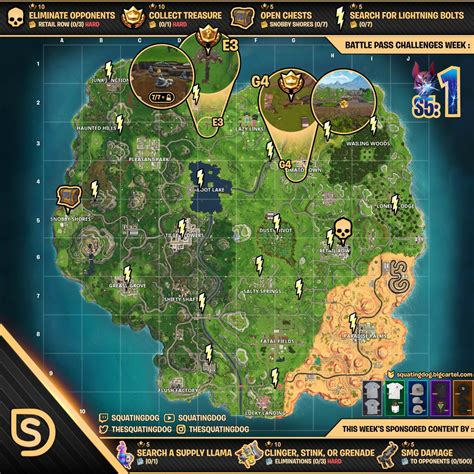 fortnite challenges for season 5 season 5 week 1 challenges wheel of fortnite
