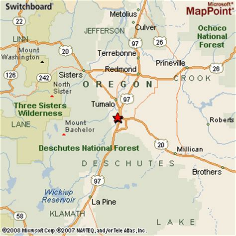 map of oregon bend bend oregon