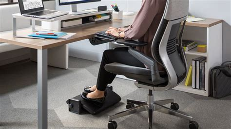 computer desk foot rest footrest ergonomic desk support steelcase