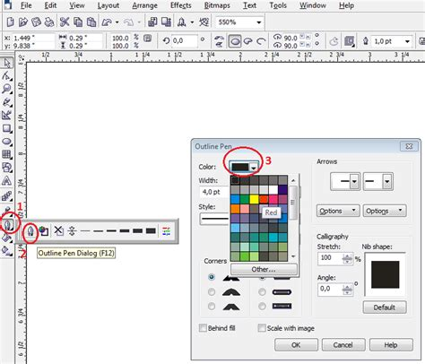 cara membuat outline pada gambar corel tutorial cara membuat logo corel draw blog pns