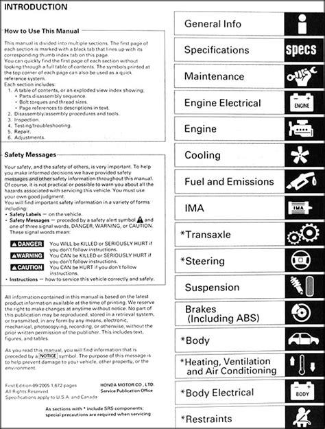 how to download repair manuals 2010 honda insight spare parts catalogs 2000 2006 honda insight repair shop manual original
