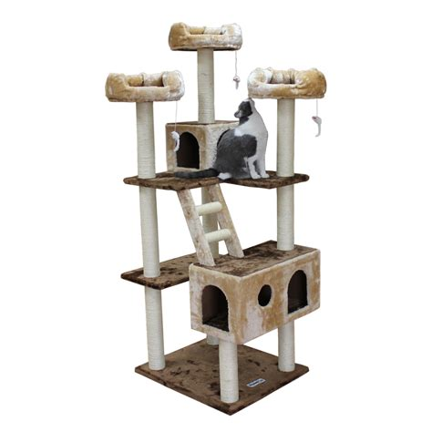 cat tree mansions 73 quot beverly cat tree reviews wayfair