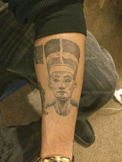 queen ink tattoo huddersfield grey ink queen nefertiti portrait tattoo