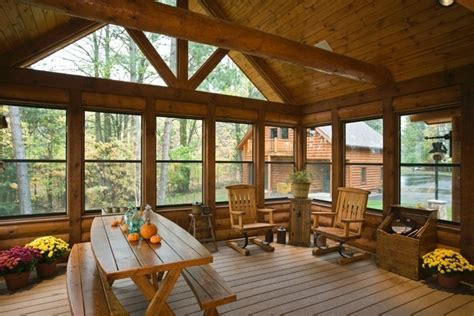 love this porch log cabin lodge pinterest 1000 images about love enclosed porches on pinterest