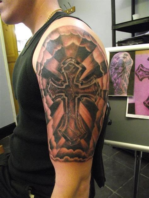cross tattoo half sleeve 23 stunning tribal half sleeve tattoos only tribal