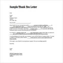 Thank You Template Letter Thank You Letters For Gifts 6 Download Free Documents