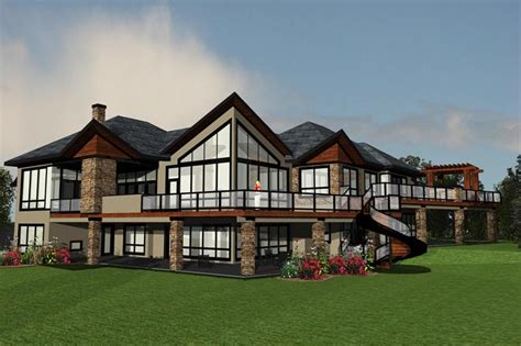 great view house plans modern house plan offers a great view family home plans blog