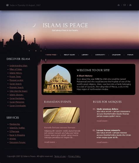 template koran photoshop islam website template 15321