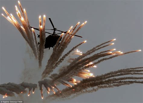 helicopter scow vladimir putin s air force puts on spectacular show of