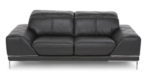 Dfs Vanguard Black Leather 2 Seater Sofa 62672 Ebay Dfs 2 Seater Leather Sofa